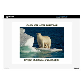 "cool Polar Bears against GLOBAL WARMING designs 15"" Laptop Skins"