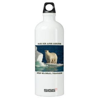 cool Polar Bears against GLOBAL WARMING designs Aluminum Water Bottle