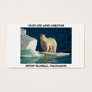 cool Polar Bears against GLOBAL WARMING designs Business Card