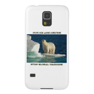 cool Polar Bears against GLOBAL WARMING designs Case For Galaxy S5