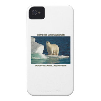 cool Polar Bears against GLOBAL WARMING designs iPhone 4 Case-Mate Case