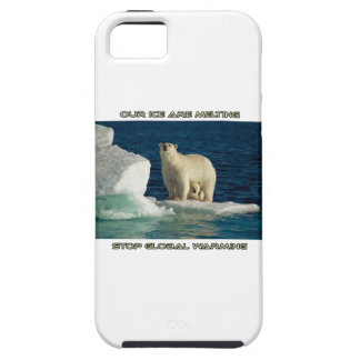 cool Polar Bears against GLOBAL WARMING designs iPhone SE/5/5s Case