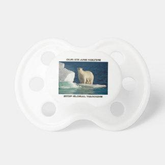 cool Polar Bears against GLOBAL WARMING designs Pacifier