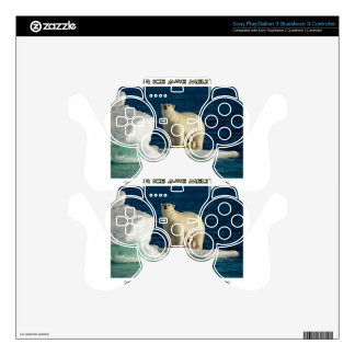 cool Polar Bears against GLOBAL WARMING designs PS3 Controller Decal
