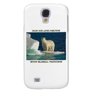 cool Polar Bears against GLOBAL WARMING designs Samsung S4 Case
