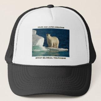cool Polar Bears against GLOBAL WARMING designs Trucker Hat