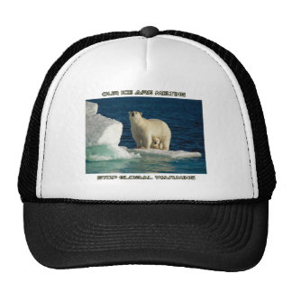 cool Polar Bears against GLOBAL WARMING designs Trucker Hat