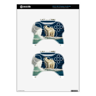cool Polar Bears against GLOBAL WARMING designs Xbox 360 Controller Decal