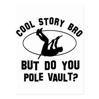 cool pole vault designs postcard