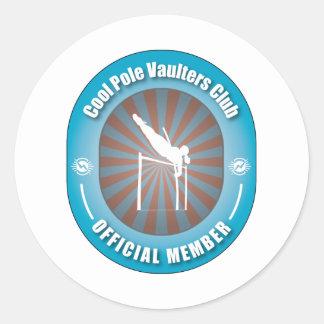 Cool Pole Vaulters Club Classic Round Sticker