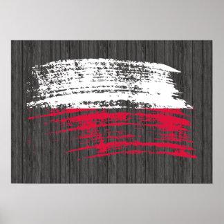 Cool Polish flag design Poster