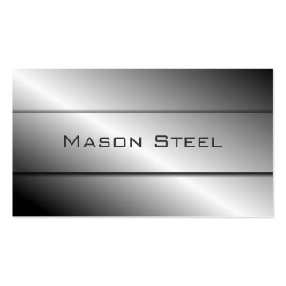Cool Polished Steel Effect, Business Card