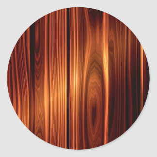 Cool Polished Wood Look Classic Round Sticker