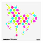 Cool Polka Dot Pattern Unicorn Wall Decals
