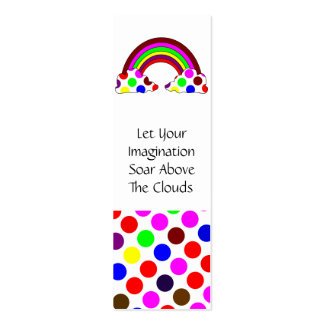 Cool Polka Dot Rainbow Bookmark Business Cards
