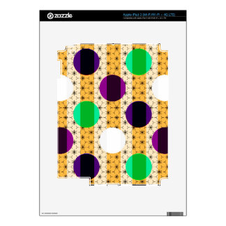 Cool Polka Dots and Stripes Multi Color Gifts iPad 3 Skins