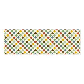 Cool Polka Dots Fall Earth Tones Colors Pattern Mini Business Card