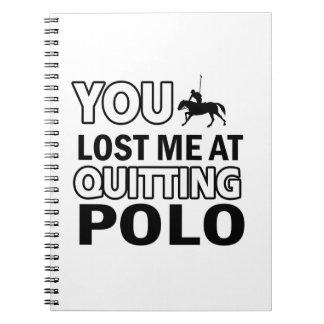 Cool polo designs spiral note books