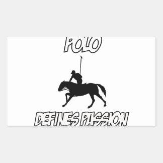 Cool POLO designs Rectangular Sticker