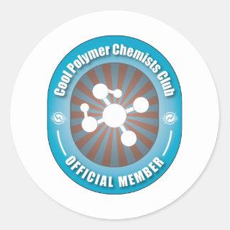 Cool Polymer Chemists Club Classic Round Sticker