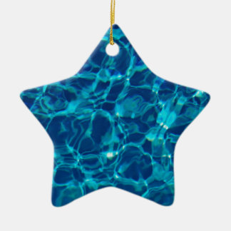 Cool Pool in Dark Blue Ceramic Ornament