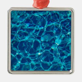 Cool Pool in Dark Blue Metal Ornament
