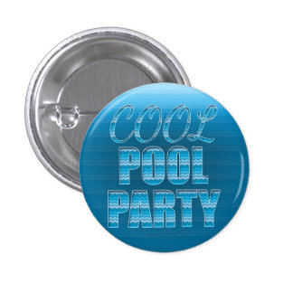 Cool Pool Party - Blue Button