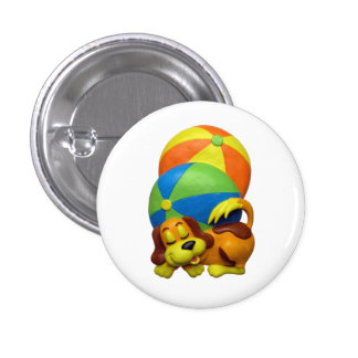 Cool Pool Party Dog Pinback Button