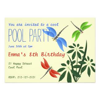 Cool Pool Party Fun Happy Birthday Invites