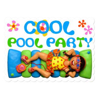 Cool Pool Party Personalized Invite