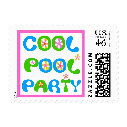 Cool Pool Party Postage Stamps