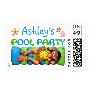 Cool Pool Party Postage