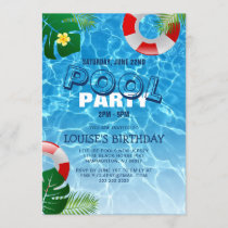 Cool Pool Party | Swimming Birthday Invitation