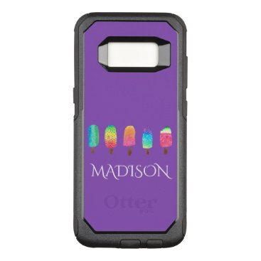 USA Themed Cool Popsicles Trendy Purple Custom School OtterBox Commuter Samsung Galaxy S8 Case