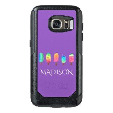 USA Themed Cool Popsicles Trendy Purple Custom School OtterBox Samsung Galaxy S7 Case