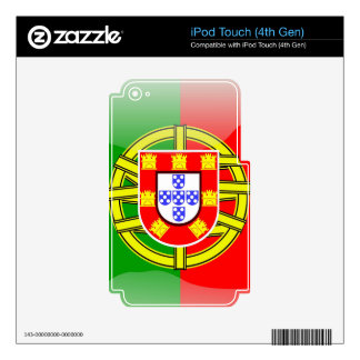 Cool Portugal Flag colourful Country Nationality iPod Touch 4G Skin