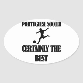 cool portuguese soccer designs oval sticker