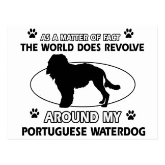 cool PORTUGUESE WATERDOG designs Postcard