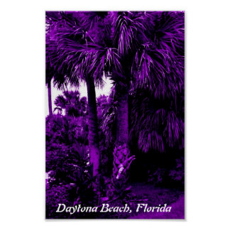 Cool Poster with Purple Palm Trees