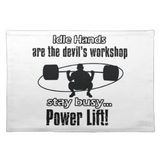 cool powerlift design placemat