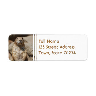 Cool Prairie Dog Mailing Labels