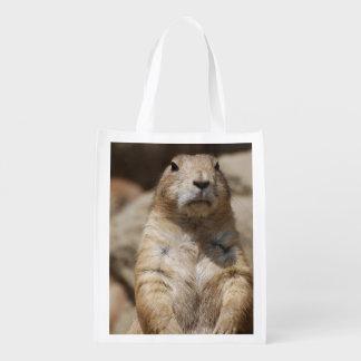 Cool Prairie Dog Reusable Grocery Bag