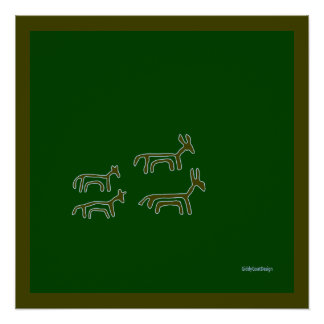 Cool Prehistoric Man Cave Wall Decor Animals Perfect Poster