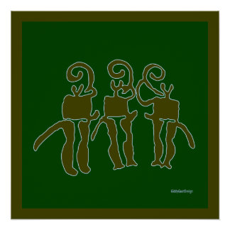 Cool Prehistoric Man Cave Wall Decor Horn Blowers Perfect Poster