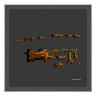 Cool Prehistoric Man Cave Wall Decor Poster