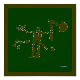 Cool Prehistoric Man Cave Wall Decor Perfect Poster