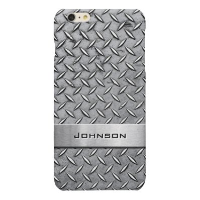 Cool Premium Diamond Cut Metallic Plate Pattern Glossy iPhone 6 Plus Case