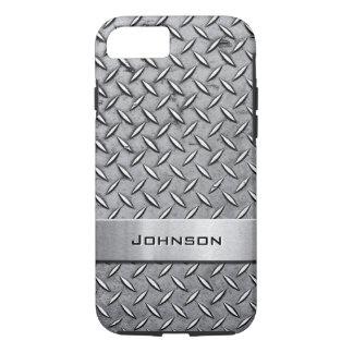 Cool Premium Diamond Cut Metallic Plate Pattern iPhone 7 Case