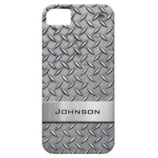 Cool Premium Diamond Cut Metallic Plate Pattern iPhone SE/5/5s Case