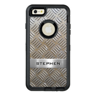 Cool Premium Diamond Cut Metallic Plate Pattern OtterBox iPhone 6/6s Plus Case